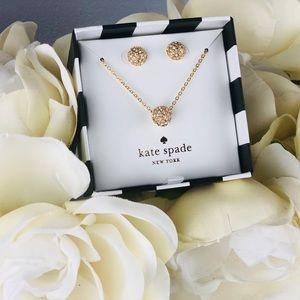 Kate Spade Night Lounge Necklace & Earrings Set